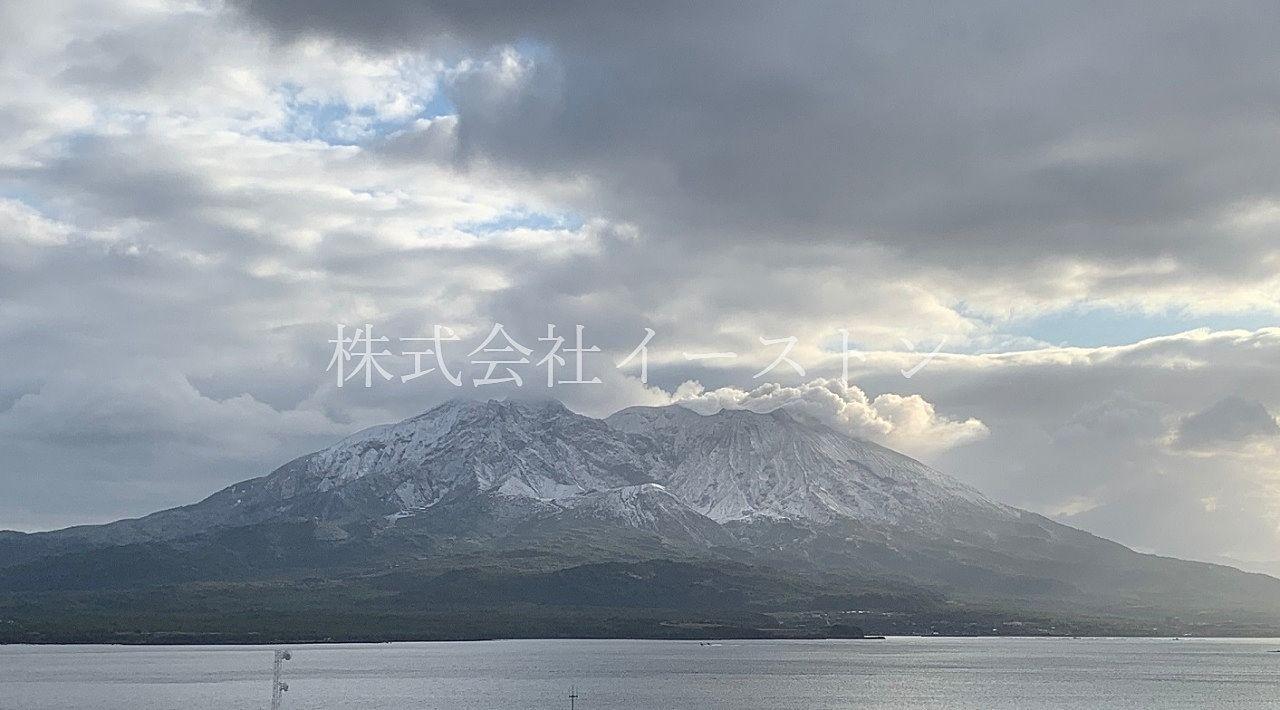 桜島、令和初冠雪!!